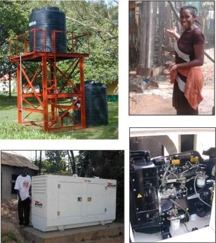 photo of Seminary's generator & borehole
